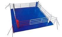 Ринг боксерский напольный на растяжках 5х5м, боевая зона 4 х 4 м