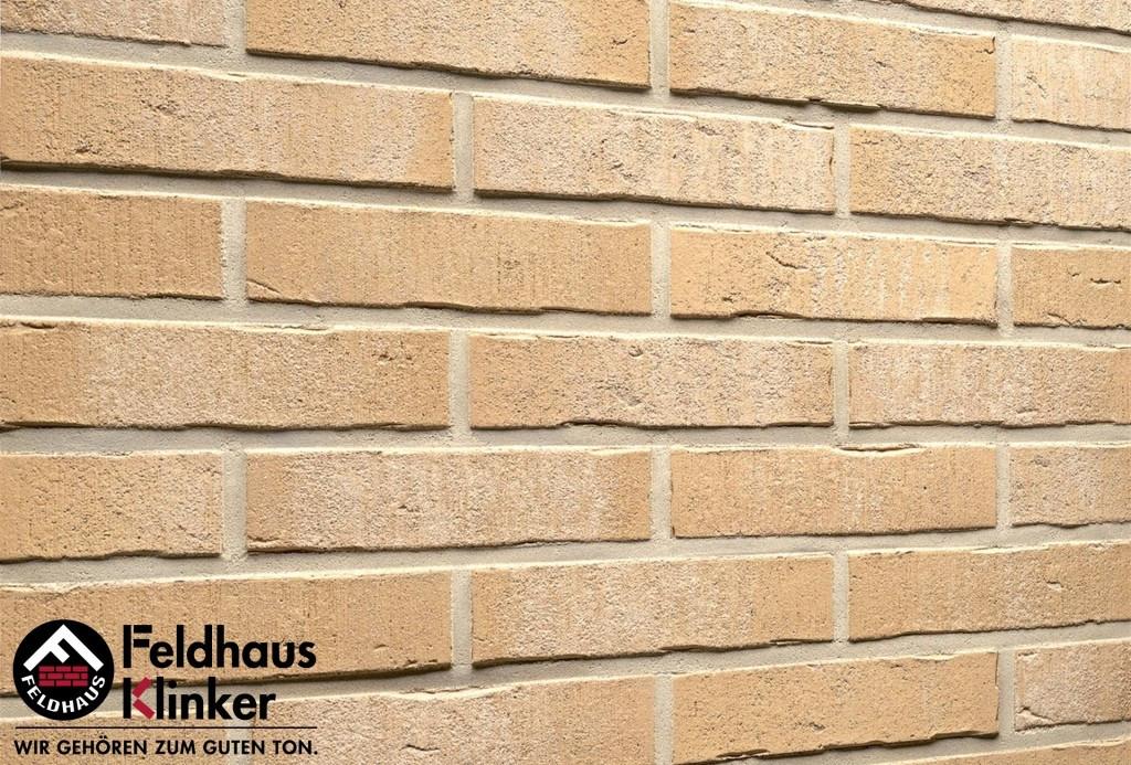 """Клинкерная плитка """"Feldhaus Klinker"""" для фасада и интерьера R733 vascu crema pandra"""