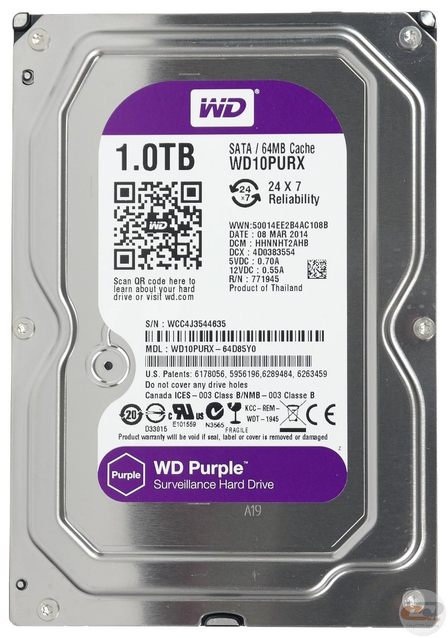 Жесткий диск для видеонаблюдения 3Tb WD Purple WD30PURZ