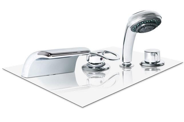 Каскадный смеситель Volna (врезной в борт ванны), фото 2
