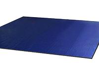 Ковер борцовский одноцветный 12 х 12 м с покрышкой, толщина 4 см