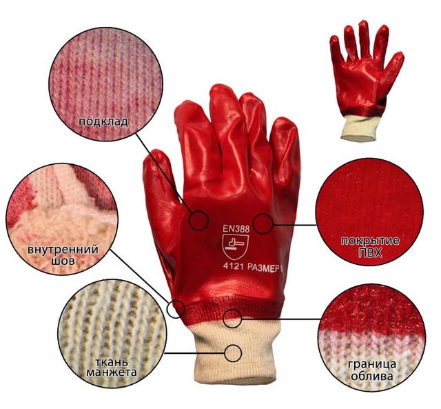 Перчатки облитые