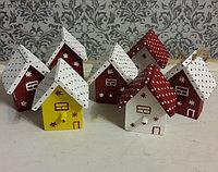 Новогодние домики на ёлку ручной работы
