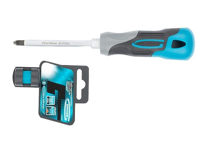 (12159) Отвертка PZ2 x 100 мм, S2, трехкомпонентная ручка//GROSS