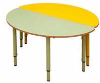 Стол игровой полукруглый, регулируемый по высоте (р.гр.№0-3)