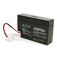 Свинцово-кислотный (гелиевый) аккумулятор Robiton VRLA12-0.8