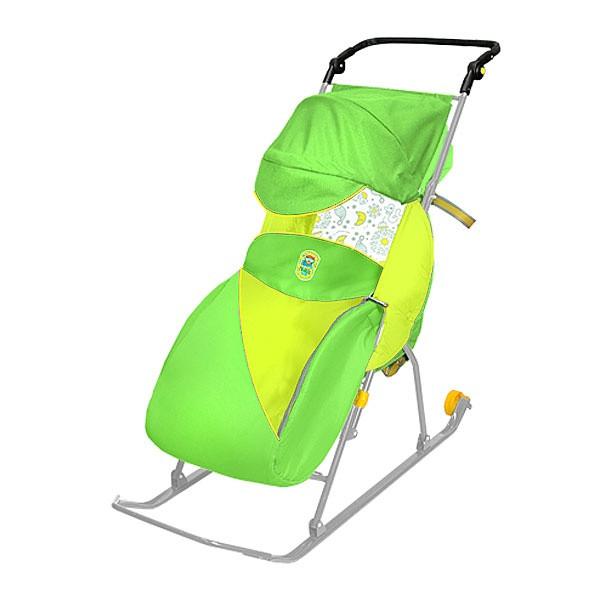 Cанки-коляска НИКА ТИМКА 2 КЛАССИК колеса Т2КЛ (зеленый)