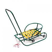 САНИМОБИЛЬ Зеленый выдвижные колеса ножной принцип