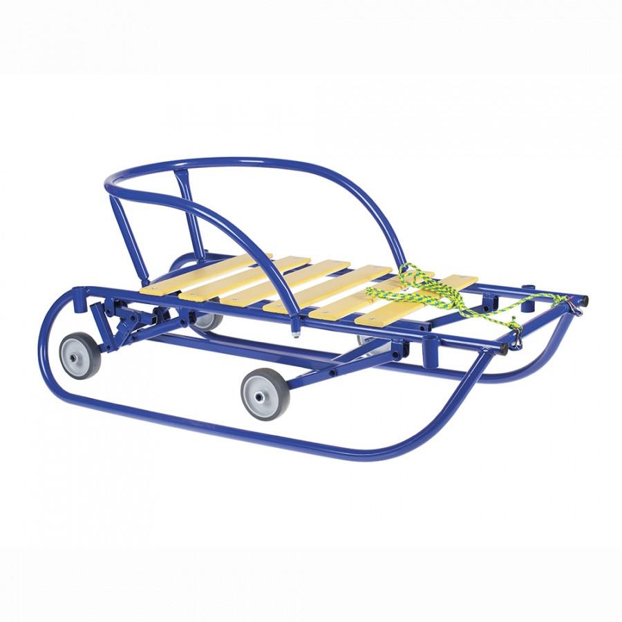 САНИМОБИЛЬ Синий выдвижные колеса ножной принцип