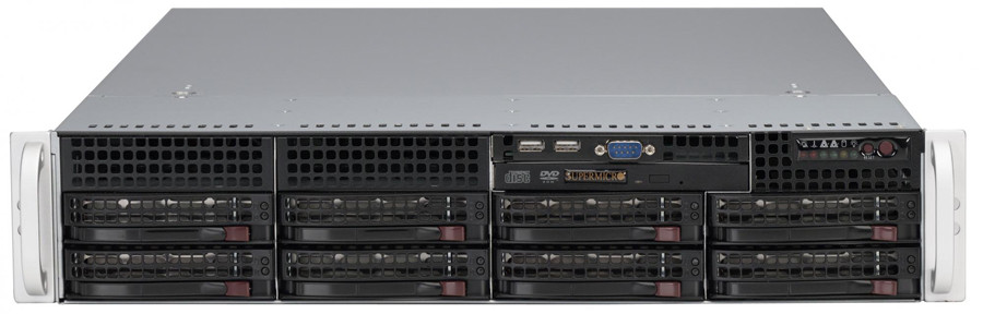 Сервер Supermicro CSE-825TQ-R720/X10DRL/2xE5-2667v4/128GB ECC/LSI 9240/2x300GB/4xSSD 480GB/2*720W