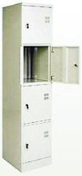 Шкаф  металлический четырехсекционный