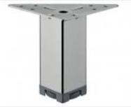 Ножка мебельная, регулируемая, сталь, 40 х 40 мм, высота 70 - 90 мм, хромир., полиров.