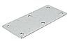 Соединительная накладка, сталь, оцинкованная, 112х48 мм