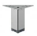 Ножка мебельная, регулируемая, сталь, 40 х 40 мм, высота 100 - 120 мм, хромир., полиров.