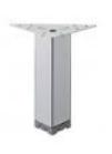 Ножка мебельная, регулируемая, сталь,40 х 40 мм, высота 100 - 120 мм, хромир., матовая
