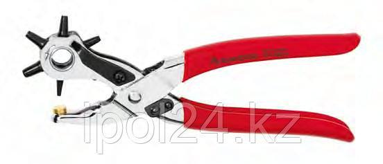 Просечные клещи с револьверной головкой никелированные, ручки в пластиковых чехлах