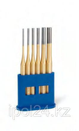 Выколотки в наборах, пластиковый держатель Стандарт золотистый