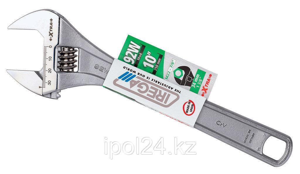 """Разводной ключ IREGA NO.92/CE - 15"""", раскрытие 43.12мм"""