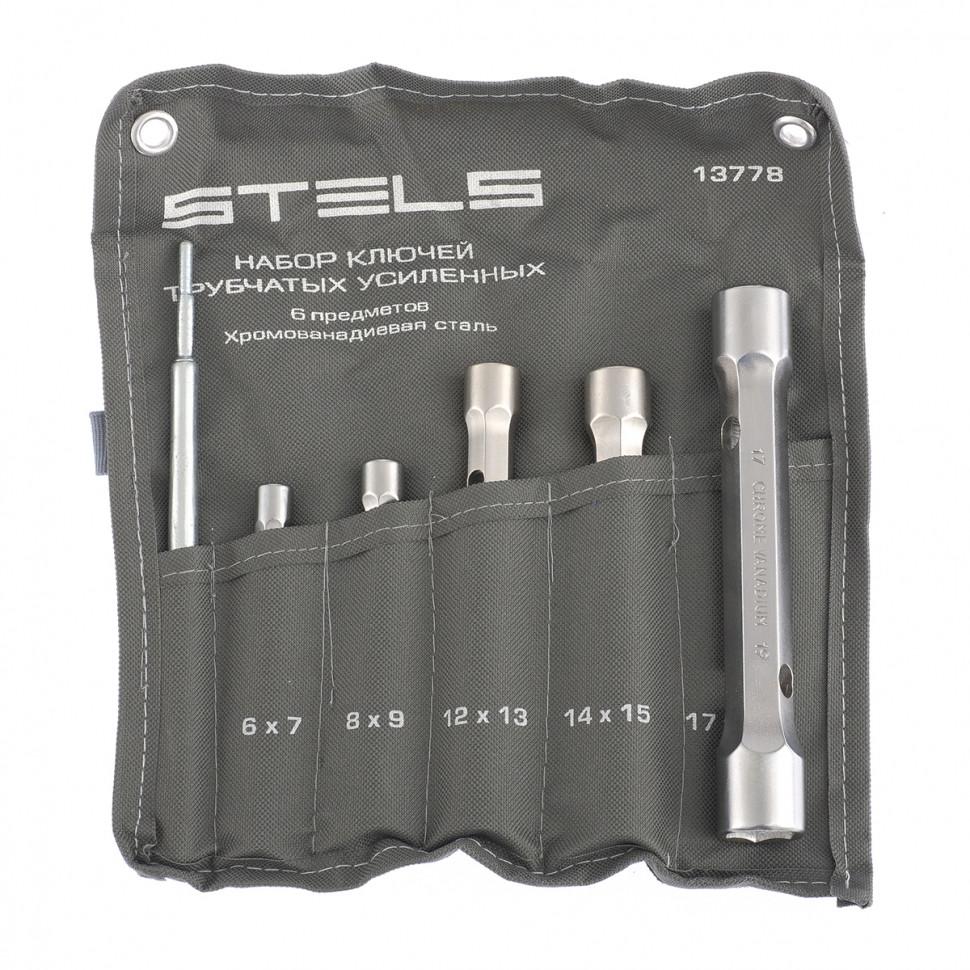 (13778) Набор ключей трубок торцевых усиленных 6 пред., CrV // Stels