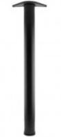 Ножка для стола Rondella, сталь, 710 мм, D 60 мм, черная