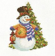 """Набор для вышивания крестом """"Снеговик-2"""""""