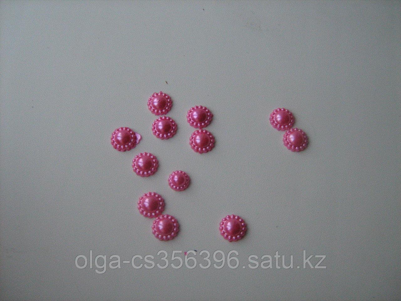 Кабошоны. Розовые. 12 мм. Creativ  1357