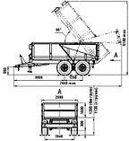 Самосвальный двухосный тракторный полуприцеп 2ППТС-7, фото 2