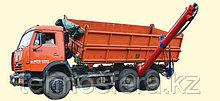 Прицепной боковой шнек НБШ-250/4 к автомобилям КамАЗ-55102 производительностью 1 т/мин