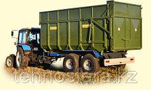 Самосвальный тракторный прицеп ТСП-16 к тракторам Т-150, МТЗ 1210, ХТЗ грузоподъемность 12 т, объем 17-24