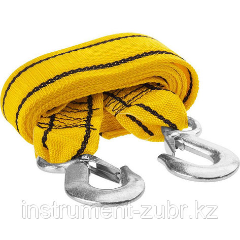 Трос буксировочный STAYER STANDARD, 2 крюка, сумка, 4м, 2,5т, фото 2