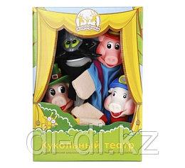 """Игровой набор Кукольный Театр """"Три поросёнка"""", 4 куклы"""