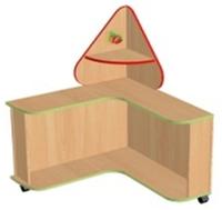 Стол дидактический Земляничка (квадрат, треугольник)