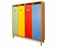 Шкаф детской одежды четырехместный с решеткой