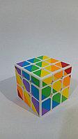 Кубик  зеркальный 3х3х3 Moyu Youngjun Inequilaterial радуга черн и син, фото 1