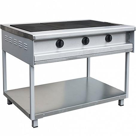 Плита электрическая 3-х конфорочная без жарочного шкафа ПЭП-0,51М (вся нерж.) (1095х830х865(885) мм, 12кВт, 38