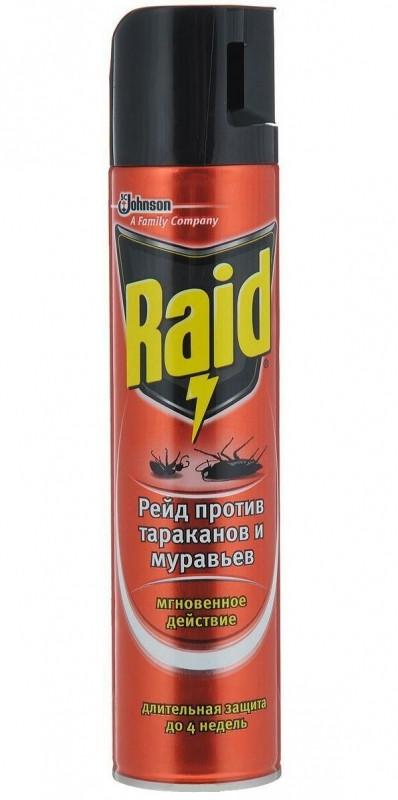Аэрозоль Рэйд - Raid от тараканов и муравьев 300мл