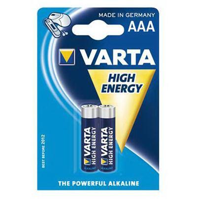Батарейки  Варта -  Varta High Energy Micro 1.5V-LR03/AAA 2шт.