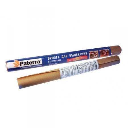 Бумага для выпечки пергамент 38см х 6м Патера - Paterra Коричневая