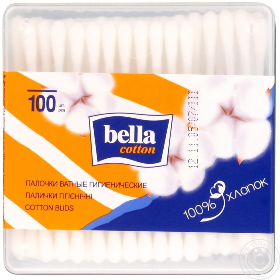 Ватные палочки Бэлла - BELLA 200шт квадратная упаковка
