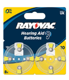 Батарейка для слуховых аппаратов 10AU RAYOVAC 8шт
