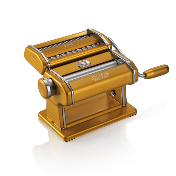 Marcato Atlas 150 Oro тестораскатка - лапшерезка ручная для дома бытовая домашняя машинка для лапши