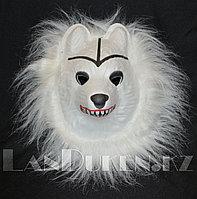 Карнавальная маска Белая волчица