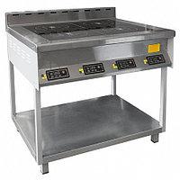 Плита индукционная ПЭИ-40 (комбинированная) (945х835х965 (985) мм, 4конф., 8,8кВт, 220/380В)