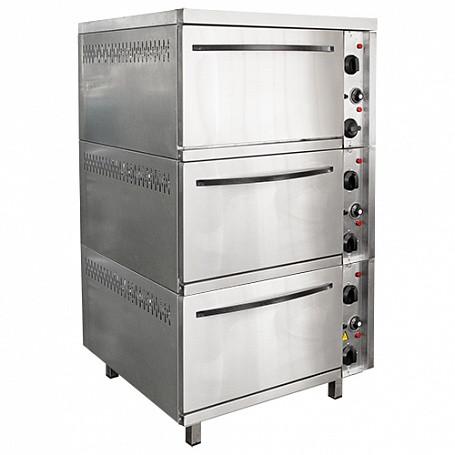 Шкаф жарочный 3-х секционный ШЭЖП-3, корпус нерж., 840х840(895)х1500(1520) мм