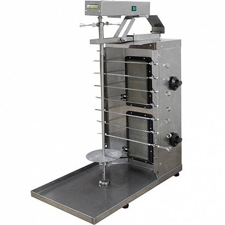 Шаурма-шашлычница газовая ШШГ-2-2-М (515х770х970(990) мм, 220В, 2 газ.горелки, с мотором)