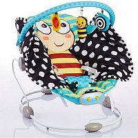Детский шезлонг BR245 Piano Бабочка бежевый Bambola