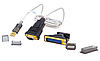 Переходник Dtech DT-5003A USB-RS-232 (DB-9M), 1.8м, переходник DB9F для  DB25M, USB2.0