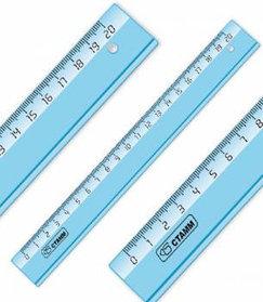 Линейка 20 см Cristal, миллиметровая шкала, закругленные углы