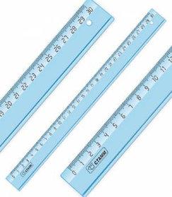 Линейка 30 см Cristal, миллиметровая шкала, закругленные углы