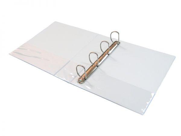 Папка на 4 кольца, A4, 80мм, PVC, белая Eisear
